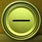 1 - Gold Steel 211 BANK TOP LID for  straight-steel Beer CANS