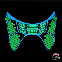 Glowing Green & Blue Equalizer Mask - Carnival festival - Sound Activated Driver