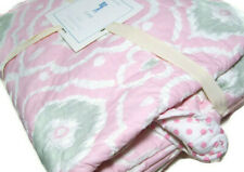 Pottery Barn Kids Multi Colors Pink Gray Claire Ikat Polka Dot Twin Quilt New