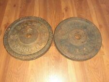 """2 BILLARD Standard 1"""" 25 Lb Weight Plates 50 Pounds Total Standard  Barbell."""
