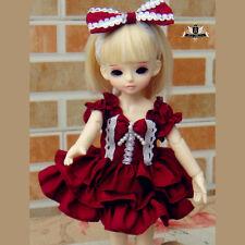 1/6 BJD Dress Dollfie MID YOSD Dress set SOOM AOD DOD Tiny Lolita skirt Clothing