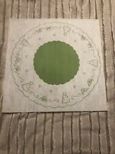 Vintage Tri Chem Picture to Paint Felt Tender Thoughts Doily Tabletop Tree Skirt
