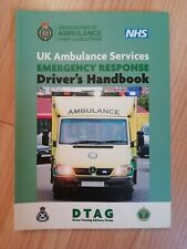UK Ambulance Services Emergency Response Driver's Handbook, Excellent Condition