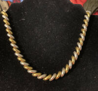 "17"" San Marco Sterling & Gold Plated Necklace 52 Grams"