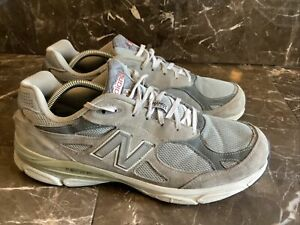 New Balance M990 V3 Grey Men US 11.5 Running Sneakers Shoes Rare M990GL3
