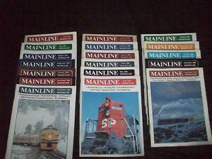Mainline Modeler Jun - Dec. 1984 & Full Year 1985 Except July Railroad Magazine