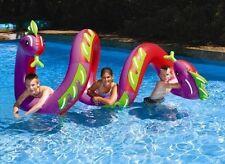 Curly Serpent Pool Float - Two Headed Giant Sea Dragon Toy - Swimline Kids WOW