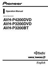 Pioneer AVH-P3200BT AV Receiver Owners Manual