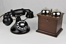 Fully Restored Antique Western Electric 102 #2 Dial Telephone - Wood Ringer Box