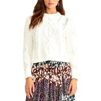 RACHEL Rachel Roy Adrina Ivory Pullover Sweater Sz XS NWOT