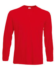 Fruit of the Loom Long Sleeve Valueweight Adult Cotton t-shirt - mens