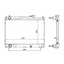 Kühler Motorkühlung - NRF 53882