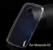 Slim Soft TPU Gel Clear Crystal Back Case Cover For Motorola Moto E 2nd Gen E+1