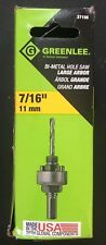 Greenlee 37156 Hole Saw Arbor 7/16-Inch Hex Shank for 1-1/4-Inch to 6-Inch Hole