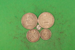 Rhodesien 3 Pence 1940, 6 Pence 1937, Shilling 1937, 42 alle ss und besser
