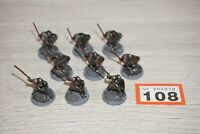 LOT 108 - Warhammer LOTR - Lord Of The Rings Morannon Orc Warriors x 9 - Metal