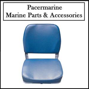 Classic Marine Folding Helm Seat Blue