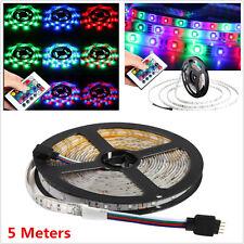 12V 5M 300 LED 3528 SMD RGB Flexible Car Interior Decor Light Strip Waterproof