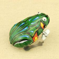 Blechspielzeug Frosch mit Aufziehmotor -hüpfender Blechfrosch KinderGeschenk Neu