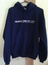 "Gildan Brand ""Muscle Driver USA"" Men's Size Medium Hoodie Navy Blue Pullover"