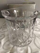 Gorham Crystal LADY ANNE Ice Bucket w/ Silver Tongs & Original Box EUC
