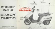 Honda CH250 Spacy (1985 >>) Genuine Factory Repair Manual MF01 CH 250 Elite CB94