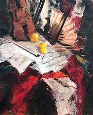 Original Oil Painting Kirill Malkov Russian Artist Interior Still Life Violin