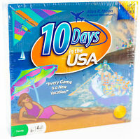 Out of the Box Boardgame 10 Days in the USA New Sealed Educational Map Family