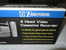 New listing New Emerson Ewv404 Vcr 4 Head Video Cassette Recorder Head Vhs Player