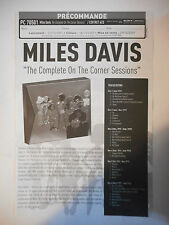 ▓ BON DE PRÉCOMMANDE SONY ▓ MILES DAVIS : THE COMPLETE ON THE CORNER SESSIONS