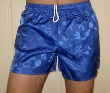 "NEW Vtg 80s Blue C.S. Nylon CHECKER Mens SMALL 4"" Inseam umbro gay soccer shorts"