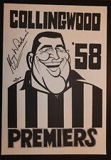 1958 Collingwood Magpies Premiers Weg Poster signed Murray Weideman Premiership
