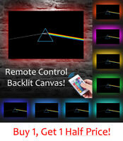 PINK FLOYD - LED BACKLIT Canvas : USB Powered Wall Art  *DARK SIDE OF THE MOON*