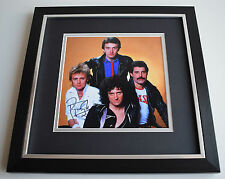 Roger Taylor SIGNED Framed LARGE Square Photo Autograph display Queen AFTAL COA