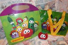 Set 1: VeggieTale set -- brand new, never opened [calendar, vinyl bag, tomato]