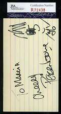 PETER NOONE MONKIES JSA COA HAND SIGNED 3X5 INDEX CARD AUTHENTICATED AUTOGRAPH