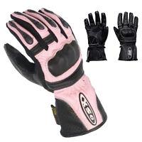 Women Ladies Leather Waterproof Winter Motorcycle Motorbike Racing Gloves