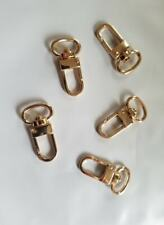 5x Luggage Tag Swivel Hook Louis Vuitton Bag Charm Name Tag Clasp GOLD