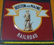 Microscale Metal Sign #10025 Boston & Maine RR (Die Cut, Embossed Metal Sign)