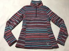 Spyder Womens 6 Savona Chevron Purple Blue Orange Pullover Mock Neck Sweater