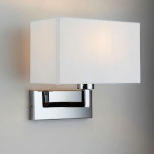 ENDON PICCOLO 60W E27 IP20 Wall Light Chrome Plate & White Cotton Mix 96751-CH