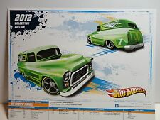 2012 Collectors Edition Hot Wheels 8 1/2 x 11 Poster Green '55 Chevy Panel Truck