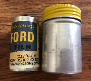 Vintage Ilford 35mm Film Metal Case (rare)
