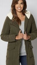 Winter Coat Parka with Sherpa Lined Hood Size 14 Brand New.