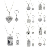 Charm Stainless Parent Boys Girls Children Mom Dad Pendant Family Chain Necklace