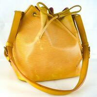 LOUIS VUITTON PETIT NOE Drawstring Shoulder Bag Purse Epi M44109 Tassil Yellow