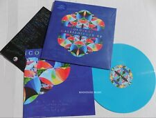 COLDPLAY LP Kaleidoscope EP BLUE Vinyl 1st Pressing + Pro Sht + Poster + MP3 12""