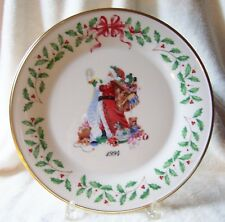 Lenox China 1994 CHRISTMAS ANNUAL SANTA Plate 4th in Series USA NIB