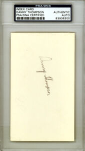 Danny Thompson Autographed Signed 3x5 Index Card Twins PSA/DNA 83936300