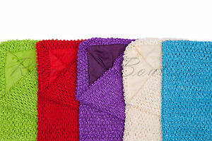 Tutu supplies lined crochet tutu tube top in 8 x 10, 10 x 12 or 14 x 16 inches